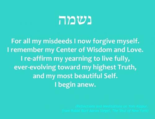 Reflections and Meditations on Yom Kippur . . .